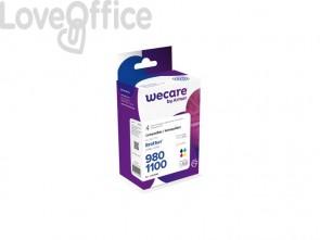 Cartucce inkjet compatibile Brother LC-1100C nero+ciano+magenta+giallo Conf. 4 - WECARE