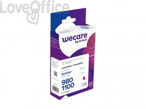 Cartuccia inkjet compatibile Brother LC-1100M magenta  WECARE