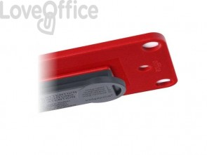 Portabadge Office Avery 81x43mm rosso  Portabadge + 3 inserti - 4839R-L