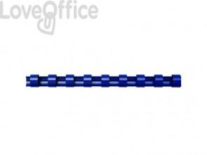 Dorsi plastici FELLOWES blu ad anello ovale 38 mm conf.50 - 53495