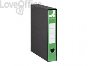Registratori a leva protocollo Q-connect in custodia A4 dorso 5 cm verde - 0201990/PM.VE (conf. 8)