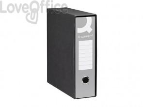 Registratori a leva protocollo Q-connect con custodia A4 dorso 8 cm grigio (conf. 6 pezzi)