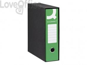 Registratori a leva commerciale Q-connect in custodia A4 dorso 8 cm verde - 0201990/Q.VE (conf.6)