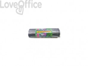 Sacchi immondizia ROLSAC in polietilene rigenerato capacità 97 l GRIGIO TRASP. rotolo da 10 pz. - 10466