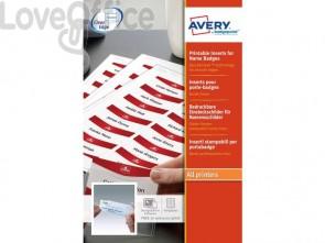 Inserti stampabili per badge Avery 37x75 mm 10 fogli - 7537