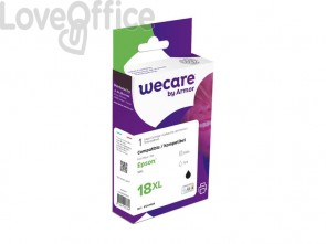 Cartuccia inkjet compatibile Epson C13T18114012 alta capacità nero WECARE