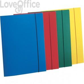 Leonardi - Cartelline con elastico in plastica - 3 lembi - Polipropilene - azzurro (conf.10)
