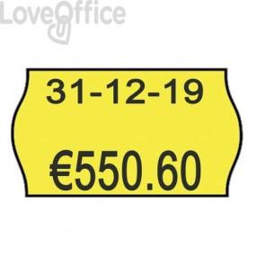 Rotolo da 1000 etichette per prezzatrice Printex sagomate 26x16 mm giallo fluo permanente  conf. 10 rotoli - 2616sfp7gi