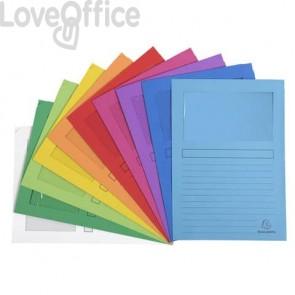Cartelline con finestra Exacompta Forever® A4 cartoncino 120 g/m² assortiti  conf. da 100 - 50100E