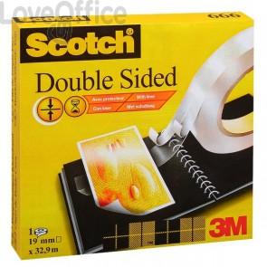 Nastro biadesivo Scotch® 665 - Rotolo - 12 mm x 33 m - 665-1233