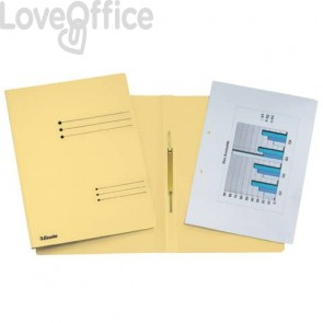 Cartelline ad aghi Esselte Rapid File 29,5x32 cm giallo 621055 (conf.25)