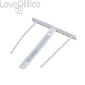 Fastener Fellowes passo 80 mm bianco conf. 100 pezzi - 00895