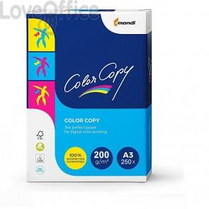 Risma carta A3 Da 250 fogli Color copy mondi 200 g/mq