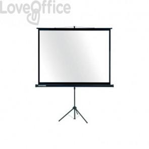 Schermo mobile a treppiede per proiezione Legamaster Economy 150x200 cm bianco e nero - 7-531554