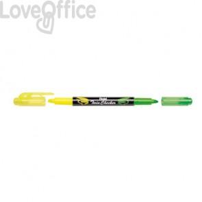 Evidenziatori Pentel Twin Checker a doppia punta 1-3 mm giallo-verde - SLW8-GK (conf.12)