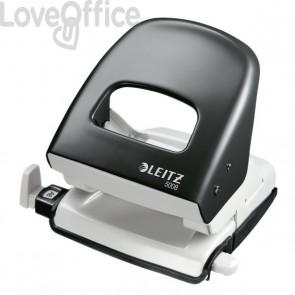 Perforatore Leitz 5008 - 2 fori - 30 fogli - nero pastello - 50080395
