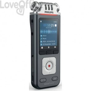 Registratore vocale digitale PHILIPS VoiceTracer ANTRACITE DVT6110