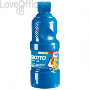 Tempera acrilica Giotto - ciano - 500 ml - 533715