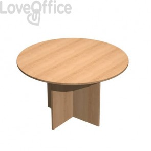Tavolo riunione rotondo Artexport Presto 120x72h cm. faggio 60121/6