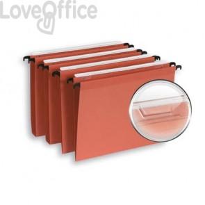 Cartelle sospese per armadio ELBA Defi interasse 33 cm arancione fondo V Conf. 25 pezzi  100330742