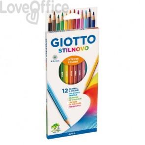 Matite colorate GIOTTO Stilnovo assortiti Astuccio da 12 - 25650000