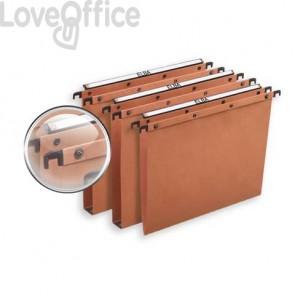 Cartelle sospese per cassetto ELBA Ultimate interasse 39 cm arancione fondo U3 Conf. 25 pezzi  100330314