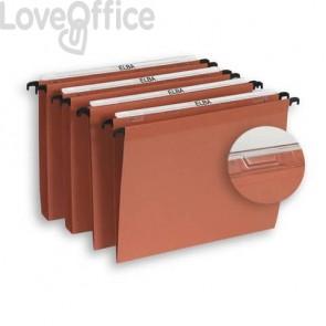 Cartelle sospese per armadio ELBA Defi interasse 39 cm arancione fondo V Conf. 25 pezzi  100330685