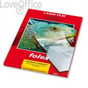 Film per stampanti laser Folex A4 - 90 my - Trasparente finitura opaca - Folaproof (conf.100 pezzi)