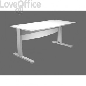 Scrivania 180 Artexport Flex con Modesty Panel bianco URB180+MOD-3