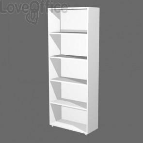 Libreria componibile Artexport Protocollo cm 76 x 196h Bianco LA-L76-3