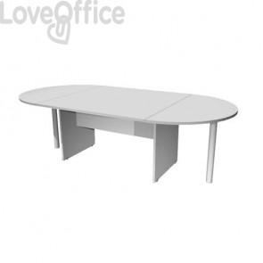 Tavolo riunione ovale Artexport Presto 220x110x72h cm. grigio TR/220/9