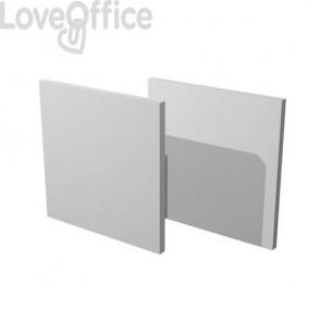 Libreria componibile Artexport Maxicolor - Set 2 dietri Grigio alluminio 2R-MaxC-5