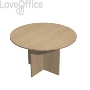 Tavolo riunione rotondo Artexport Presto 120x72h cm. rovere 60121/C