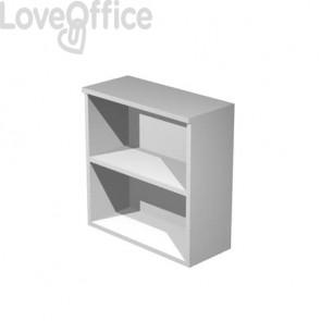 Mobile a giorno Artexport Presto 1 ripiano regolabile 80x44x72 cm grigio alluminio - 50030/5