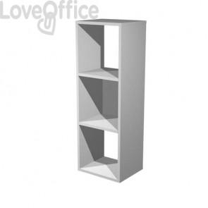 Libreria componibile Artexport Maxicolor - 3 caselle Grigio alluminio 3MaxC-5