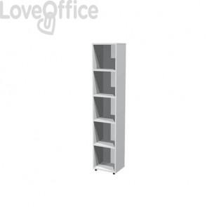 Libreria componibile Artexport Protocollo cm 40 x 196h Grigio LA-L40-9