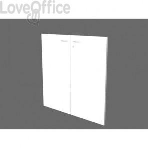 Libreria componibile Artexport Protocollo coppia ante basse Bianco CAB-L76-H81-S-3