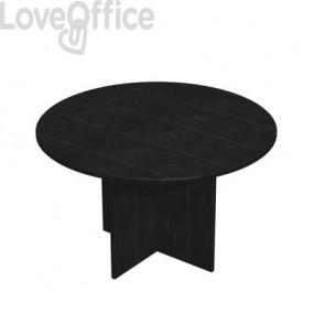 Tavolo riunione rotondo Artexport Presto 120x72h cm. nero venato frassino 60121/8