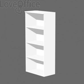 Mobile a giorno Artexport Presto 3 ripiani regolabili 80x35x180 cm bianco 038+039/3