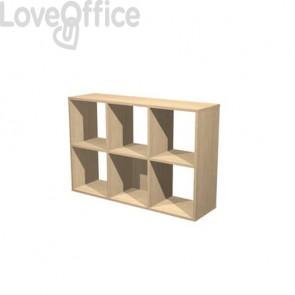 Libreria componibile Artexport Maxicolor - 6 caselle Rovere 6MaxC-C