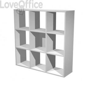 Libreria componibile Artexport Maxicolor - 9 caselle Grigio alluminio 9MaxC-5