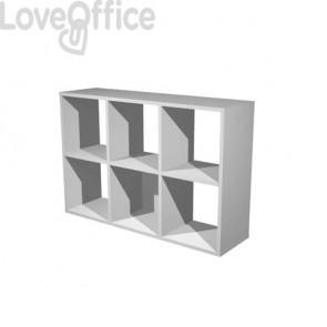 Libreria componibile Artexport Maxicolor - 6 caselle Grigio alluminio 6MaxC-5
