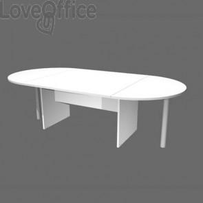 Tavolo riunione ovale Artexport Presto 220x110x72h cm. bianco TR/220/3