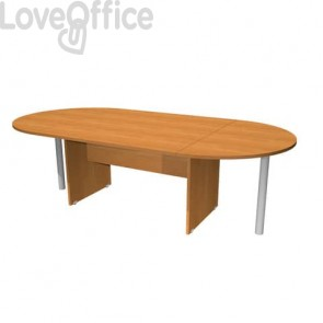Tavolo riunione ovale Artexport Presto 220x110x72h cm. noce chiaro TR/220/4
