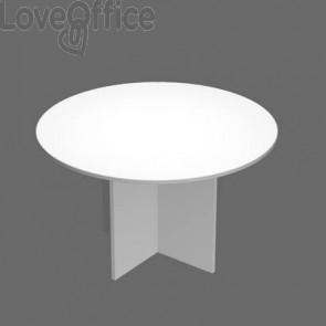 Tavolo riunione rotondo Artexport Presto 120x72h cm. bianco 60121/3