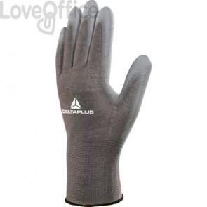 Guanto da lavoro Delta Plus in maglia di poliammide con palmo in poliuretano grigio  taglia 8 - VE702GR08