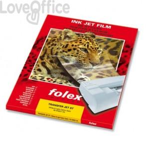 Carta speciale patinata per stampanti InkJet Folex - A4 - finitura opaca - Transfer Jet ST (conf.50 pezzi)