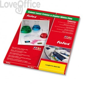 Film per stampanti laser antistrappo Folex - A4 - 115 my - Bianco opaco - Longlife Pro Matt WO (conf.100 pezzi)