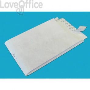 Buste a sacco con strip e 3 soffietti Tyvek Postyvek 55 g/m² bianco 30,5x40,6 cm (conf. 100)