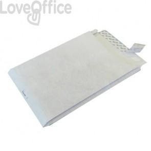 Buste a sacco con strip e 3 soffietti Tyvek Postyvek 55 g/m² bianco 22,9x32,4 cm - 0756